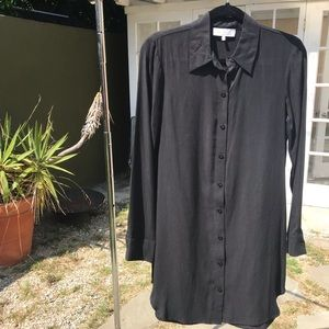 WAYF Button Down Black Shirt Dress, NWOT
